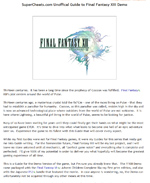 Final Fantasy Anthology Guide