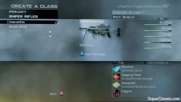 intervention sniper rifle mw2. Intervention - Bolt Action