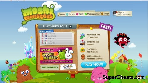 Moshi Monsters Guide (Moshi Monsters Walkthrough)