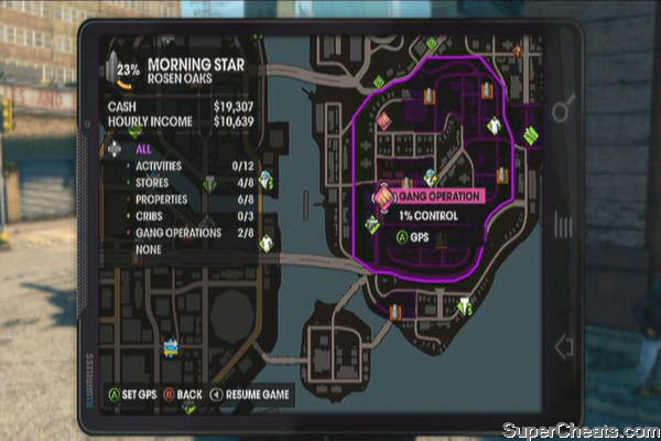 Gang Operation Locations Saints Row The Third Guide