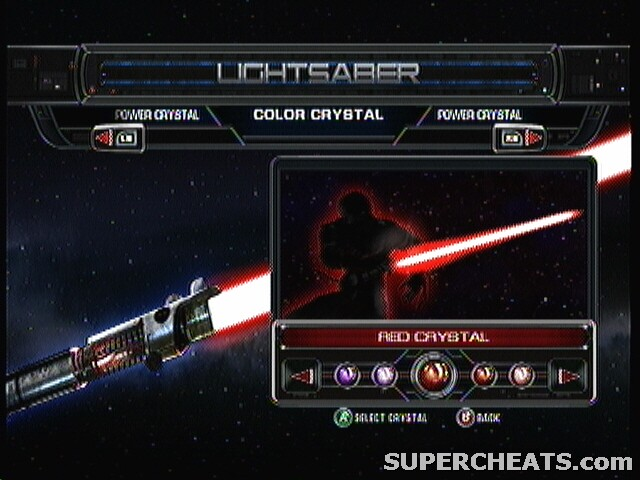 star wars the force unleashed 2 lightsaber crystals