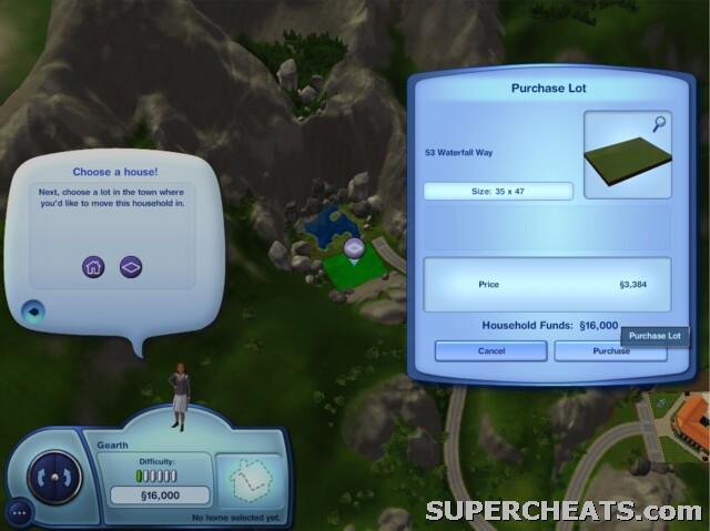 Choosing a House or Plot of Land - The Sims 3 Guide