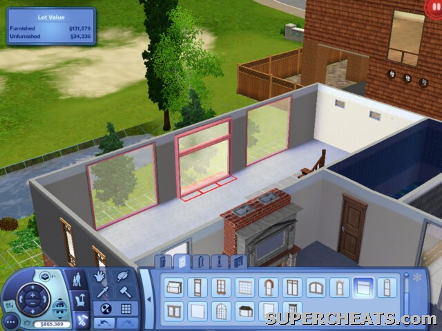 Lighting While In Build Mode On Sims