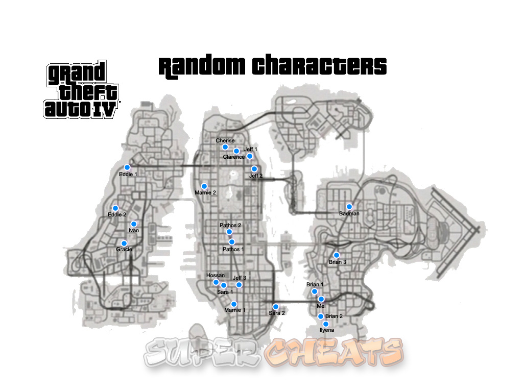 Random Characters Grand Theft Auto 4 Guide