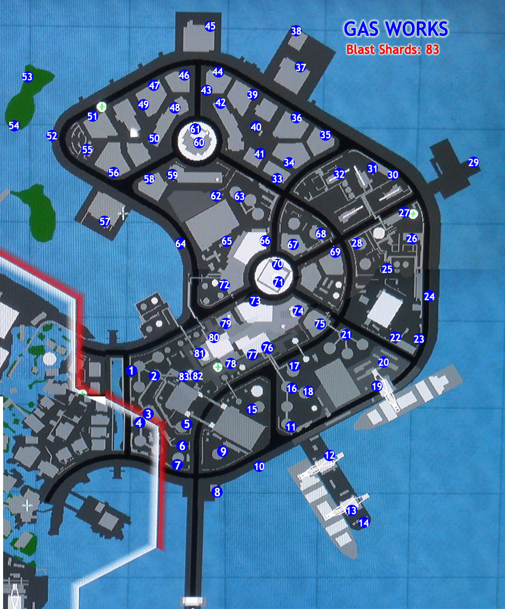 Gas Works - inFamous 2 Guide on infamous blast shards, infamous ps3, infamous 2 all powers, dead island map, infamous 1 shard locations,