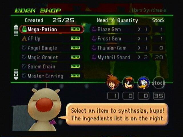 item sythesis list