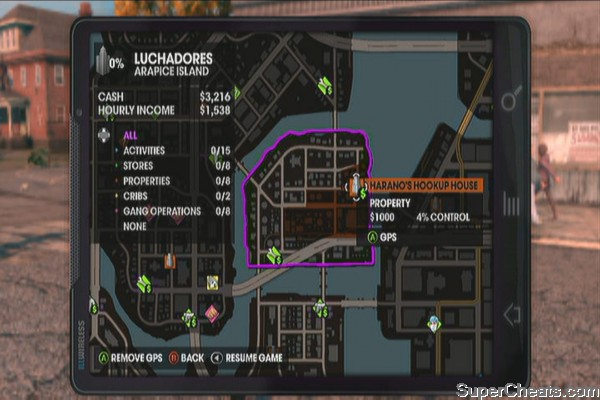 Arapice Island - Saints Row The Third Guide on saints row the third activities map, saints row 2 activities map, saints row 4 activities map,