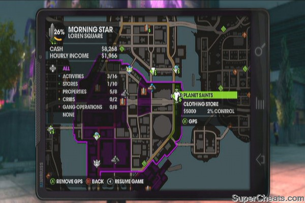 Loren Square - Saints Row The Third Guide on saints row 4 activities map, saints row the third activities map, saints row 2 activities map,
