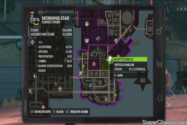 Sunset Park - Saints Row The Third Guide on saints row the third activities map, saints row 2 activities map, saints row 4 activities map,