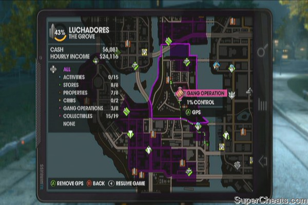 Gang Operation Locations - Saints Row The Third Guide on saints row the third activities map, saints row 2 activities map, saints row 4 activities map,