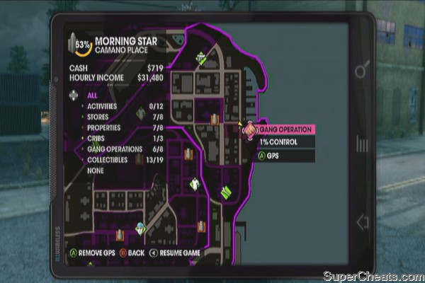 Gang Operation Locations - Saints Row The Third Guide
