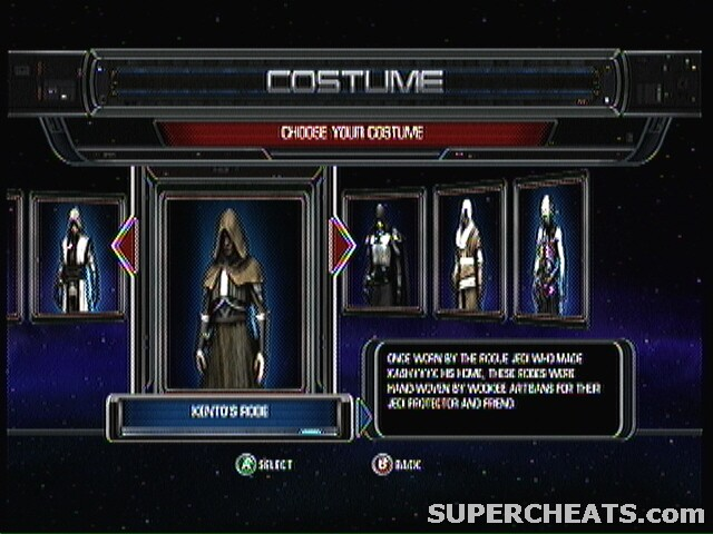 Costumes Star Wars The Force Unleashed Guide