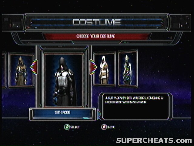 Costumes Star Wars The Force Unleashed Guide And Walkthrough