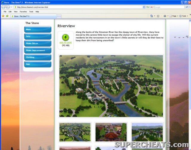 River View (New Town) - The Sims 3 Guide